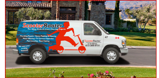 Scooter Rooter drain services truck